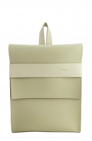 Dámský kožený batoh FACEBAG SERGIO - Béžová *ruga*