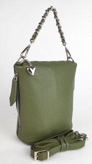Dámská kožená kabelka FACEBAG EMMA I. - Tmavá zelená *dolaro*