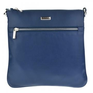 Dámská kožená kabelka FACEBAG VILMA - Modrá