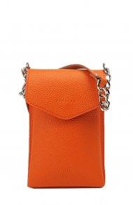 Kožené pouzdro na mobil FACEBAG 8054 - Oranžová oboustranná