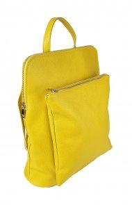Dámský italský kožený batoh KUBA - Žlutá *dolaro*