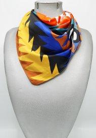 Dámský malý šátek z polyesteru barevný vzorovaný