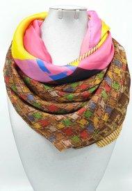 Dámský hedvábný šátek jemné barvy