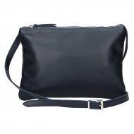 Dámská kožená kabelka FACEBAG ALLY - Tmavá modrá
