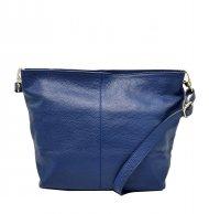 Kožená crossbody kabelka Olivia modrá
