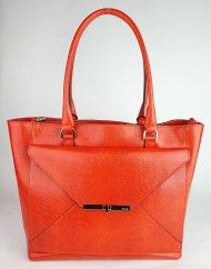 Dámská italská kožená kabelka RIPANI 2282 KK 055 MITO - Korálová lak