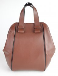 Dámská italská kožená kabelka RIPANI 8392 LL 038 BIGNE - Tmavá hnědá hladká