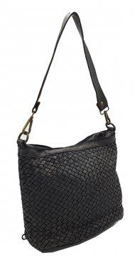 Kožená kabelka 3357 černá vintage