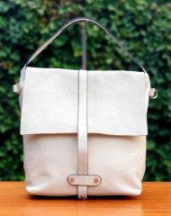 Dámská italská kožená kabelka 694562 - Béžová