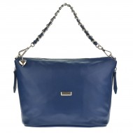 Dámská kožená kabelka FACEBAG OTTAVIA - Tmavá modrá