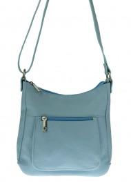 Dámská italská kožená kabelka 2285 - Světlá modrá