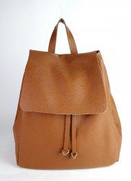 Dámský italský kožený batoh 2717 - Cuoio *dolaro*