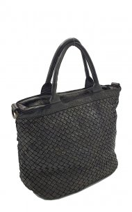 Kožená kabelka 5998 tmavá černá vintage