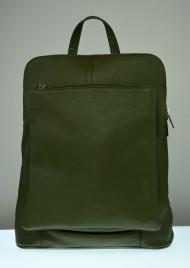Kožený batoh KUBA - olivově zelená