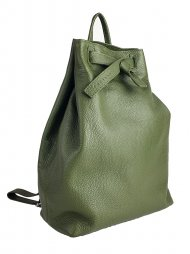 Dámský kožený batoh FACEBAG ELMA - Tmavá zelená *dolaro*