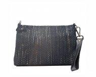 Dámská kožená kabelka FACEBAG MAXA - Pletené stříbro