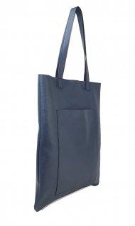 Dámská kožená kabelka FACEBAG ELSA - Tmavá modrá *dolaro*