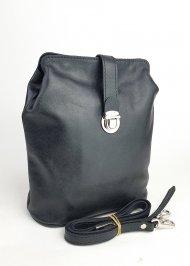 Dámská kožená kabelka FACEBAG ANNA - Černá hladká