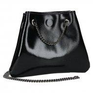 Dámská kožená kabelka FACEBAG JADIE - Černá lak *safiano*