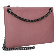 Elegantní dámská kožená kabelka FACEBAG ERIN - Starorůžová *dolaro*