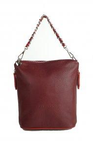 Dámská kožená kabelka FACEBAG EMMA II. - Vínová *dolaro*