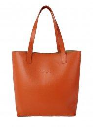 Dámská kožená kabelka FACEBAG ROSINA - Oranžová *safiano*