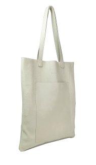 Dámská kožená kabelka FACEBAG ELSA - Béžová hladká