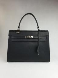 Dámská italská kožená kabelka 2332 - Černá