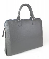 Dámská kožená kabelka FACEBAG GAYA - Tmavá šedá *dolaro* s krátkými uchy