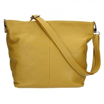 Dámská italská kožená kabelka DINA - Okrová