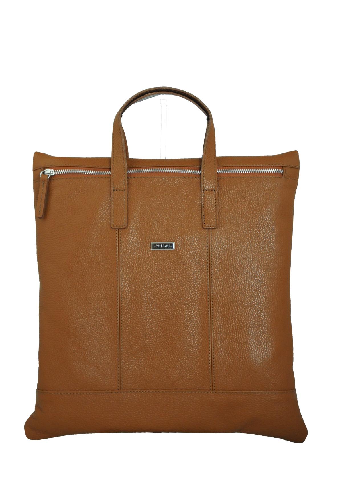 Dámská kožená kabelka FACEBAG FLAVIA - Cuoio