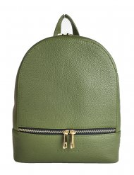 Designový kožený batůžek FACEBAG CANDY - Tmavá zelená *dolaro*