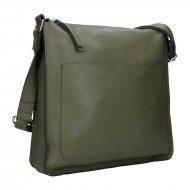 Dámská kožená kabelka FACEBAG AMY - Tmavá zelená