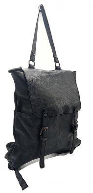Kožený batoh 3356 černá vintage