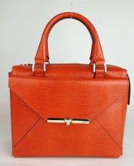 Dámská italská kožená kabelka RIPANI 2285 KK 055 MITO - Korálová lak