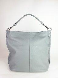 Dámská italská kožená kabelka 3082 - Světlá šedá *dolaro*