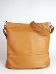 Dámská kožená kabelka FACEBAG FUDA - Cuoio *dolaro*