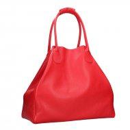 Dámská kožená kabelka FACEBAG MEDA - Červená *dolaro*