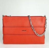 Dámská italská kožená kabelka RIPANI 9972 KC 055 GUENDA - Červená *palmelato*