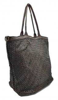 Kožená kabelka 2201 tmavá hnědá vintage
