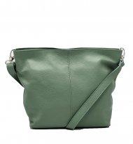 Kožená crossbody kabelka Olivia zelená