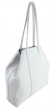 Dámská kožená kabelka FACEBAG MIA - Bílá hladká