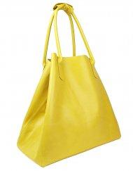 Dámská kožená kabelka FACEBAG MEDA - Ananasová hladká