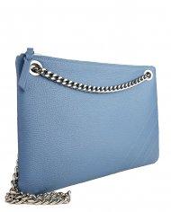 Elegantní dámská kožená kabelka FACEBAG ERIN - Světlá modrá *dolaro*