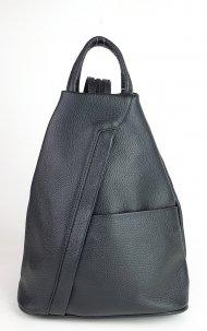 Dámský italský kožený batoh 3174 - Černá *dolaro*
