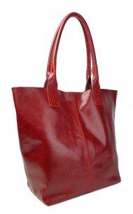 Dámská kožená kabelka FACEBAG ERNA - Bordó *vintage*