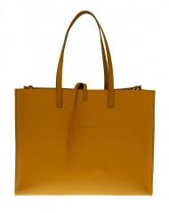 Dámská kožená kabelka FACEBAG CHERI - Tmavá žlutá