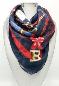 Dámský šátek z pevného hedvábí barevný