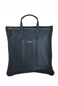 Dámská kožená kabelka FACEBAG FLAVIA -Tmavá modrá