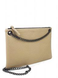 Elegantní dámská kožená kabelka FACEBAG ERIN - Tmavá béžová *dolaro*